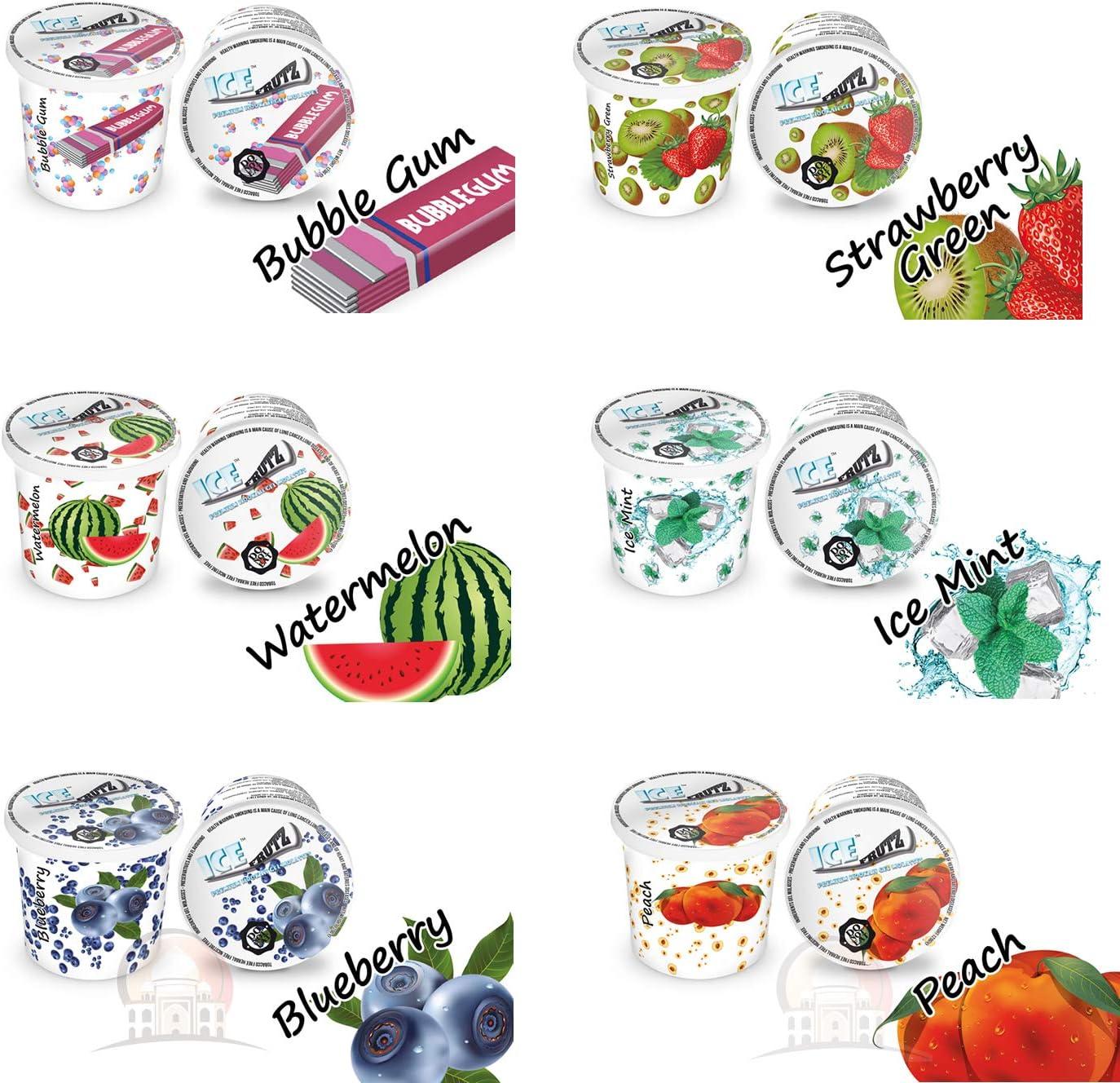 Ice Frutz Gel Gel de Vapor Shisha Gel Mixed Pack, 6 tipos de pipa de agua Gel Granulado Nikotinfreier Tabakersatz