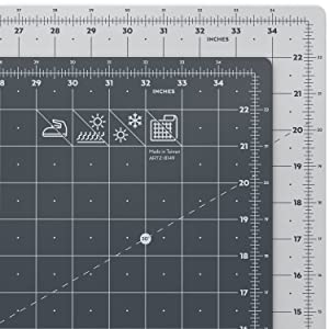 """ARTEZA Self Healing Rotary Cutting Mat, 24""""x36"""" with Grid & Non Slip Surface for Fabric, Paper, Vinyl, Plastic, Eco Friendly, Durable & Flexible, Great for Crafts, Quilting, Sewing, Scrapbooking"""