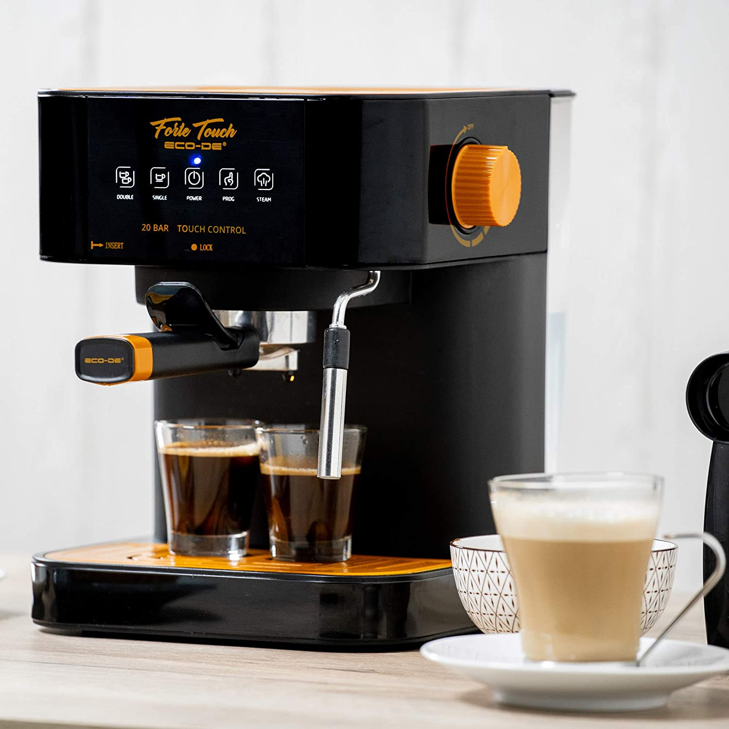 ECODE Cafetera Espresso Forte Touch, 20 Bar, Panel Táctil ...