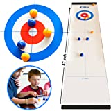 Elite Sportz Tabletop Curling Game for Families. Adults vs The Kids in this Fun Family Game. It's Way More Fun Than it Looks, Quick and Easy to Set-Up and So Compact for Storage or as a Travel Game