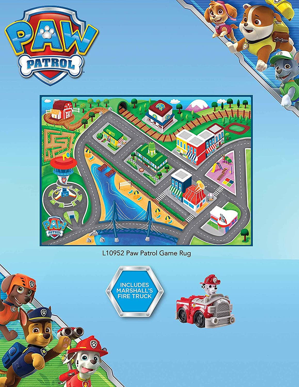 Gertmenian Gertmenian /& Sons 31054 32x44 32x44 G.A Paw Patrol Toys Rug 2017 HD Marshall Fire Truck Adventure Bay Kids Game Play Mat
