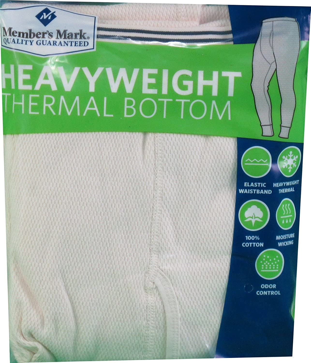 Natural 44-46 Members Mark Mens 2X-Large Heavyweight Thermal Bottom