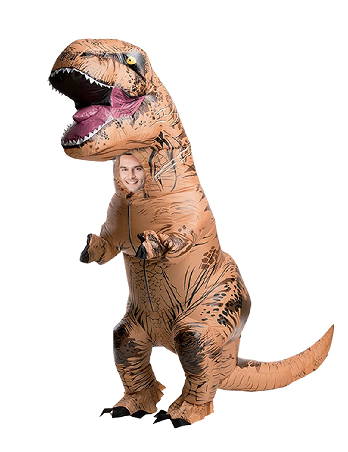 Costume Inflatable Dinosaur T-Rex New - Premium Quality - Adult Größe Costume - Polyester Comfortable to Wear and Resistant - Includes Inflation System