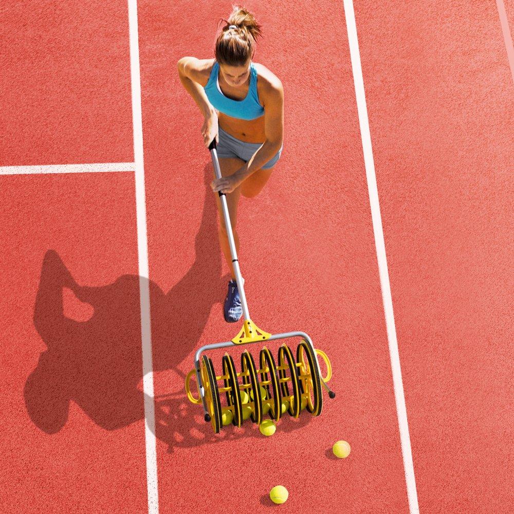 Deluxe Roller Tennis Ball Collector - Includes 25 Bonus Practice Balls! by Crown (Image #3)
