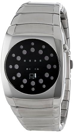 Binary THE ONE LL102R2 - Reloj digital de mujer de cuarzo con correa de acero inoxidable plateada: Amazon.es: Relojes