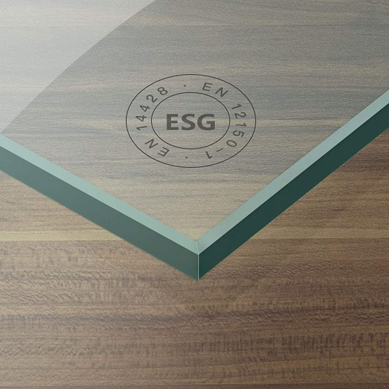 Duschkabine Duschabtrennung Doppel-Schwingtür Hebe-//Senk-System Lotus-Schutz ESG