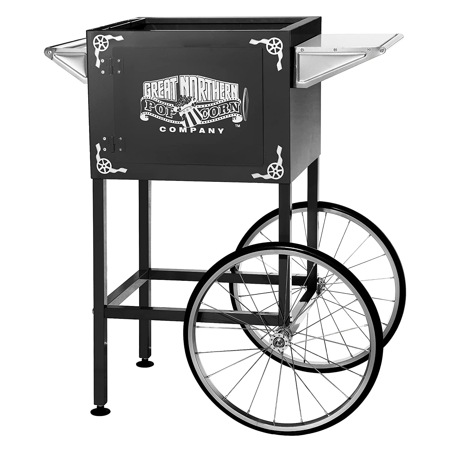 6401 Black Replacement Cart for Larger Lincoln Style Great Northern Popcorn Machines
