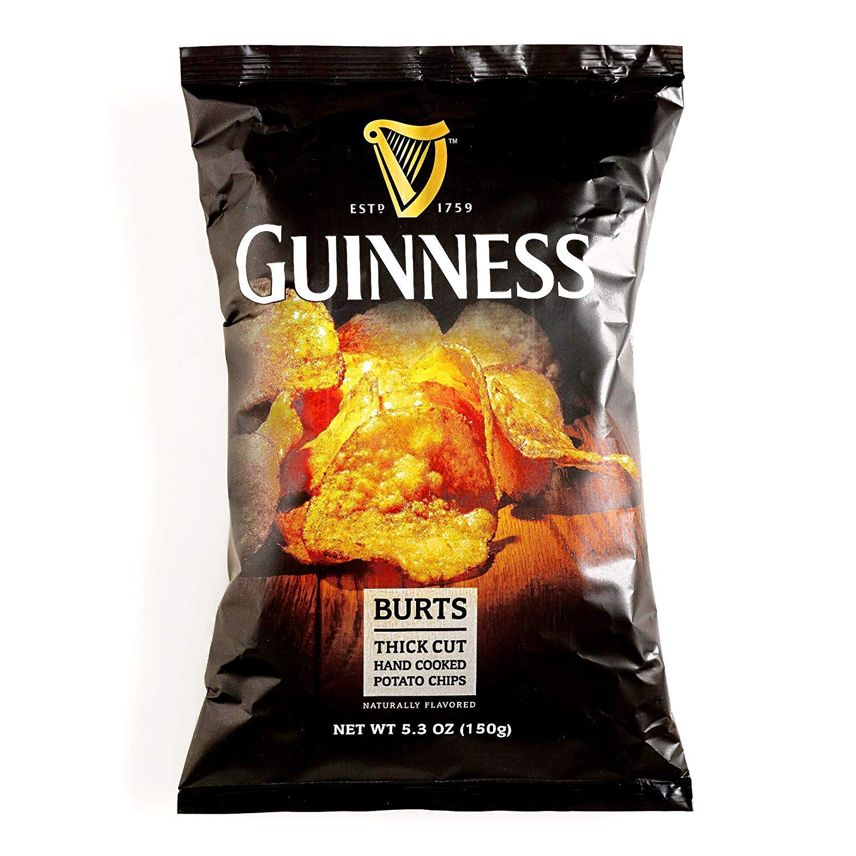 Burts Guinness Potato Chips 5.3 oz each (1 Item Per Order)