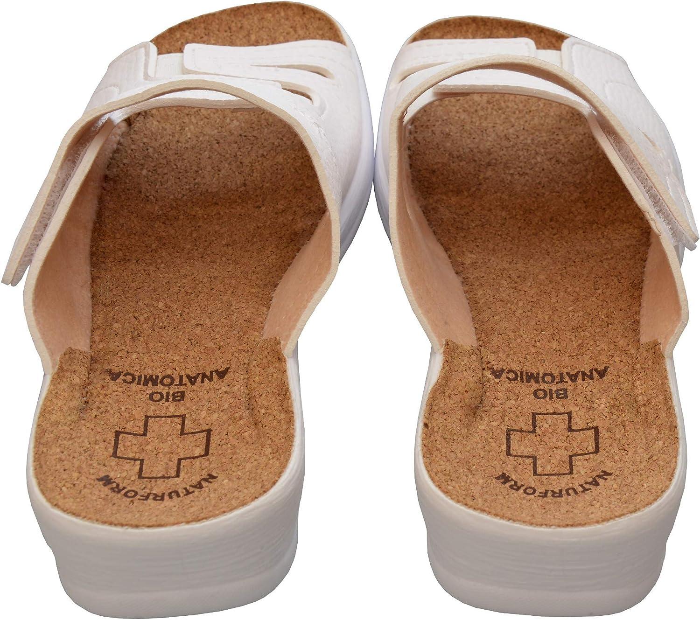 Zapatillas de Corcho c/ómodas Trabajo liviano y c/ómodo 36,37,38,39,40,41 BeComfy Zapatillas de Trabajo para Mujer Calzado de Trabajo Zapatillas Sandalias
