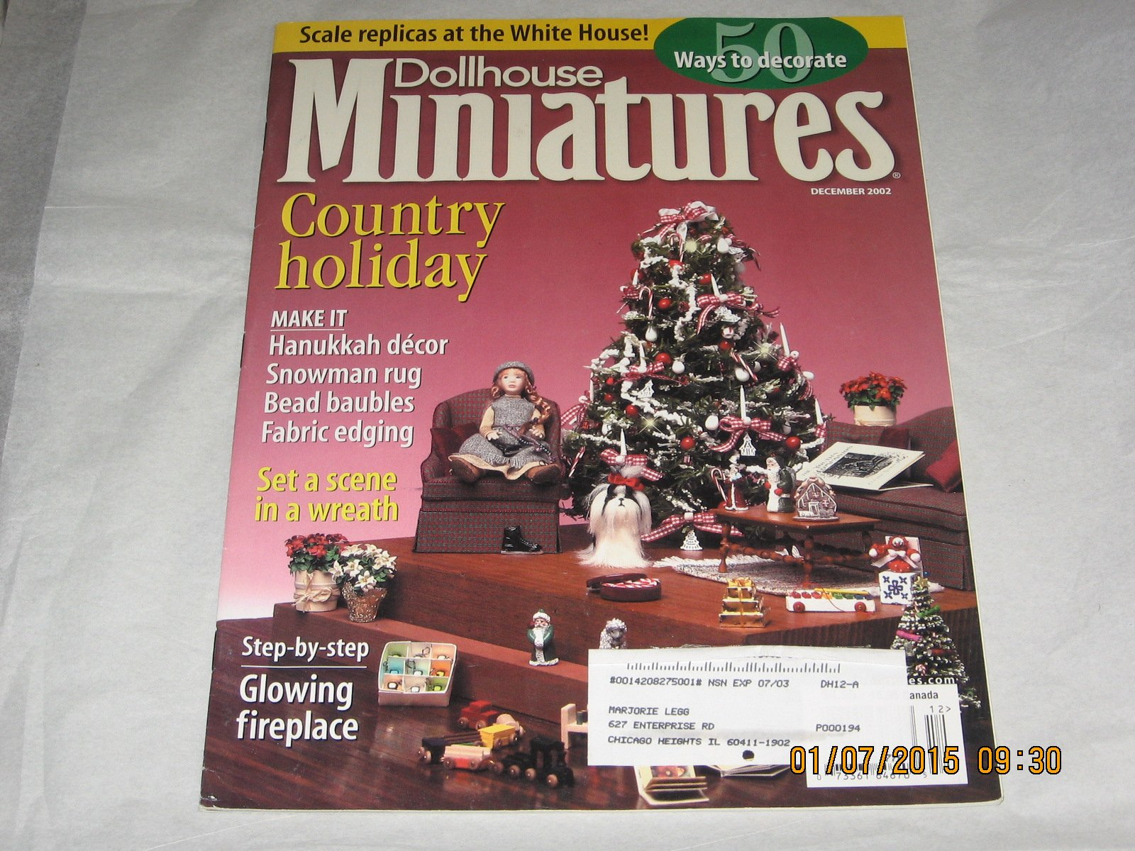 Dollhouse Miniatures December 2002 Volume 32 No 12