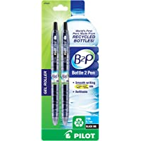 PILOT B2P - Bottle to Pen Refillable & Retractable Rolling Ball Gel Pen Made From Recycled Bottles, Fine Point, Black G2…