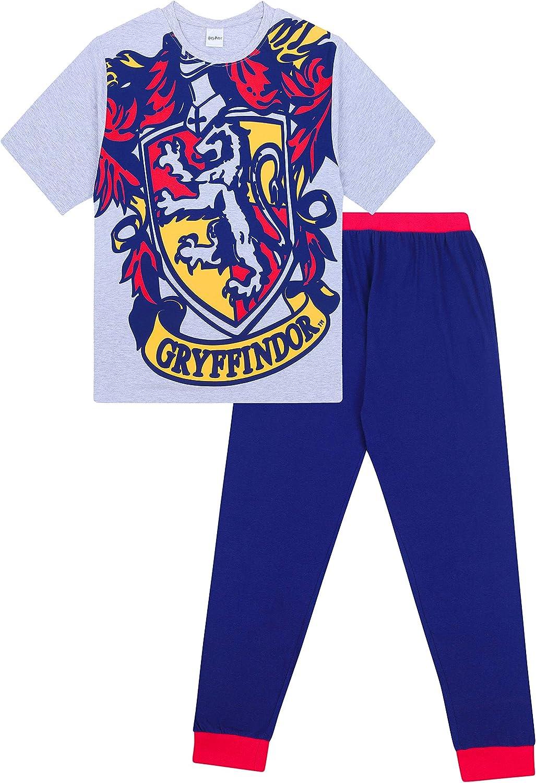 HARRY POTTER Pigiama per Ragazze T-Shirt a Maniche Lunghe Hedwig e Pantaloni