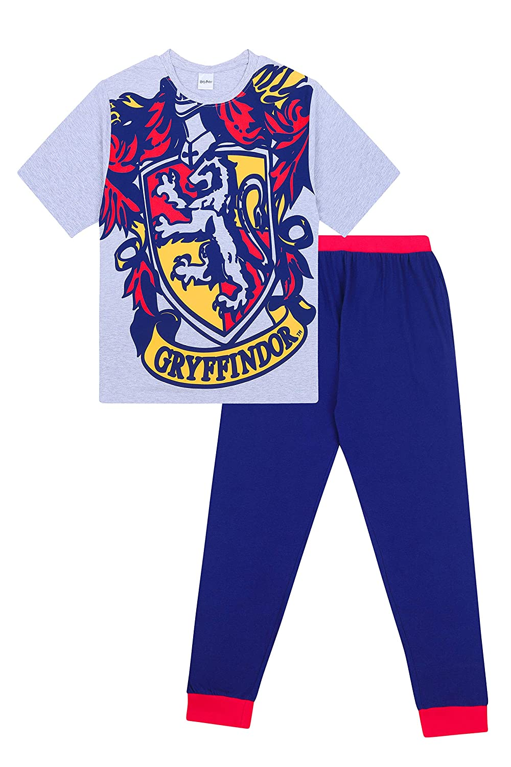Mens Harry Potter Gryffindor Character Cotton Long Pyjamas