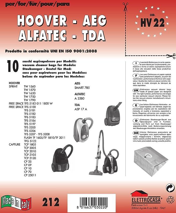 Elettrocasa HV 22 Sacchetto per la polvere