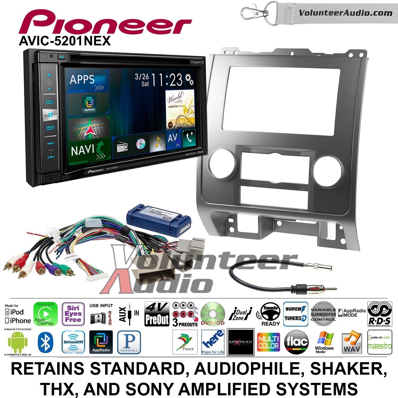 Pioneer AVIC-5201NEX Double Din Radio Install Kit with Navigation Apple Carplay Bluetooth Fits 2008-2012 Ford Escape, Mazda Tribute, Mercury Mariner