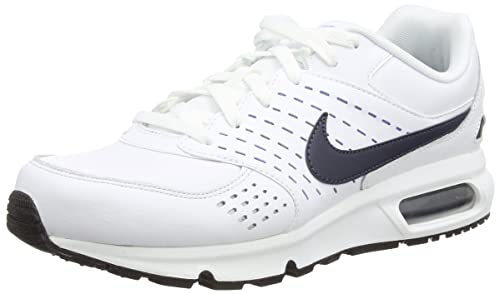Nike Air MAX Solace Leather, Botines para Hombre, (White/Obsidian/University Blue/Black), 47 EU: Amazon.es: Zapatos y complementos