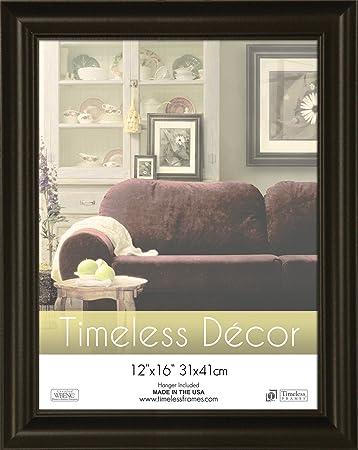 timeless frames 12x16 inch boca picture frame black