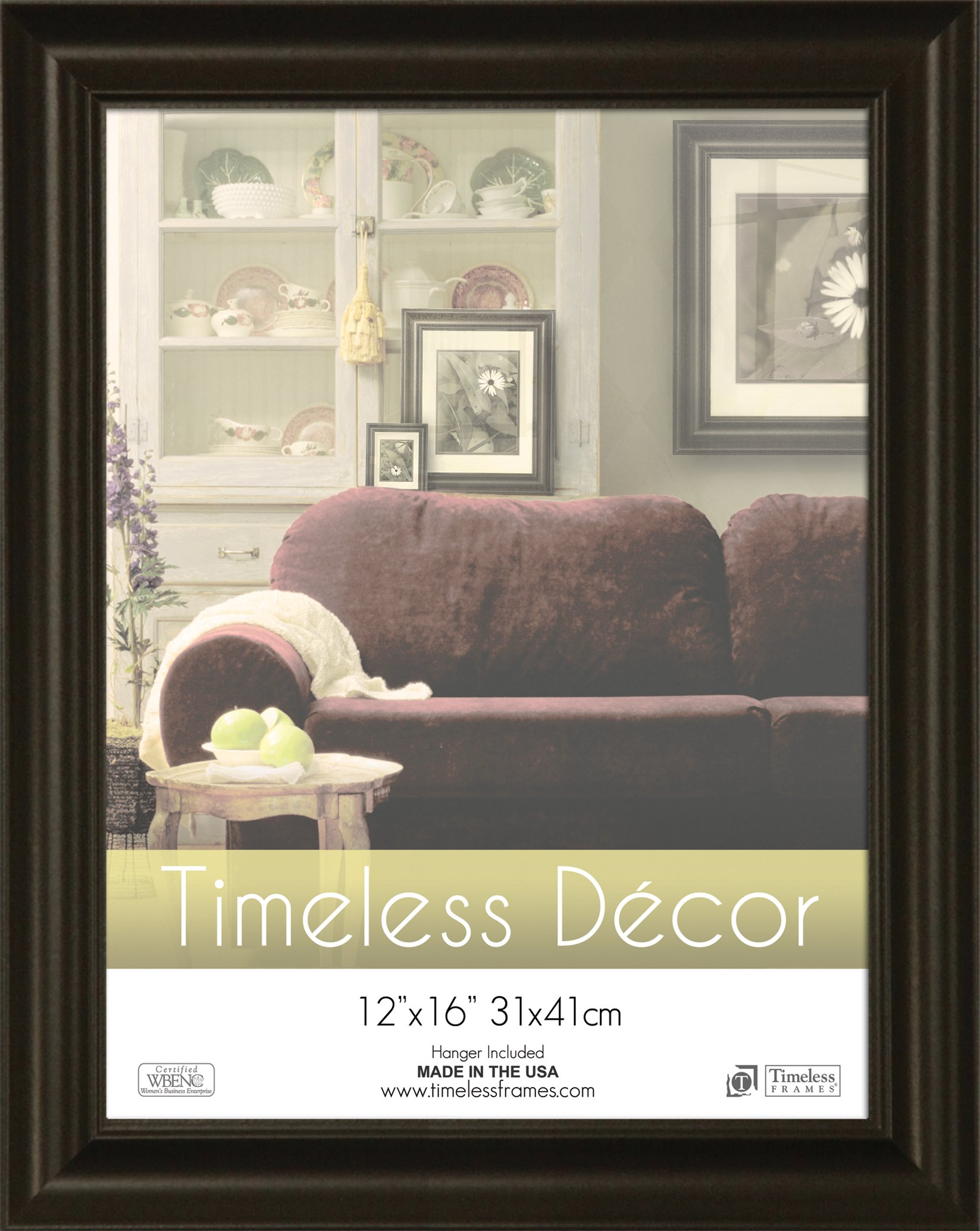Timeless Frames 12x16 Inch Boca Picture Frame, Black by Timeless Expressions