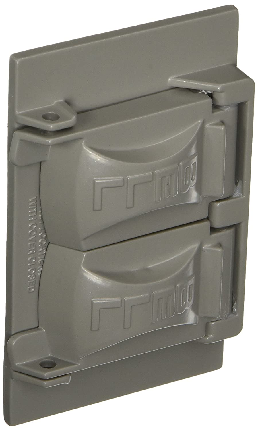 Hubbell-Bell CH100WH Weatherproof Metallic Device Cover Single Gang White Duplex