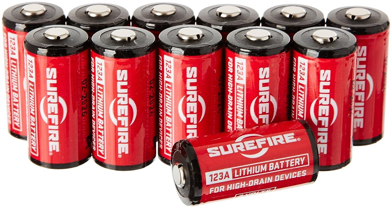 Surefire Batterien 123A - Batería para herramienta eléctrica, color rojo, talla 3.3x1.5x1.5 cm SF2-CB