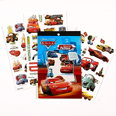 Disneys Cars Temporary Tattoo Book Party Accessory: Toys & Games
