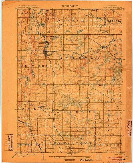 Amazon Com Yellowmaps West Bend Wi Topo Map 1 62500 Scale 15 X