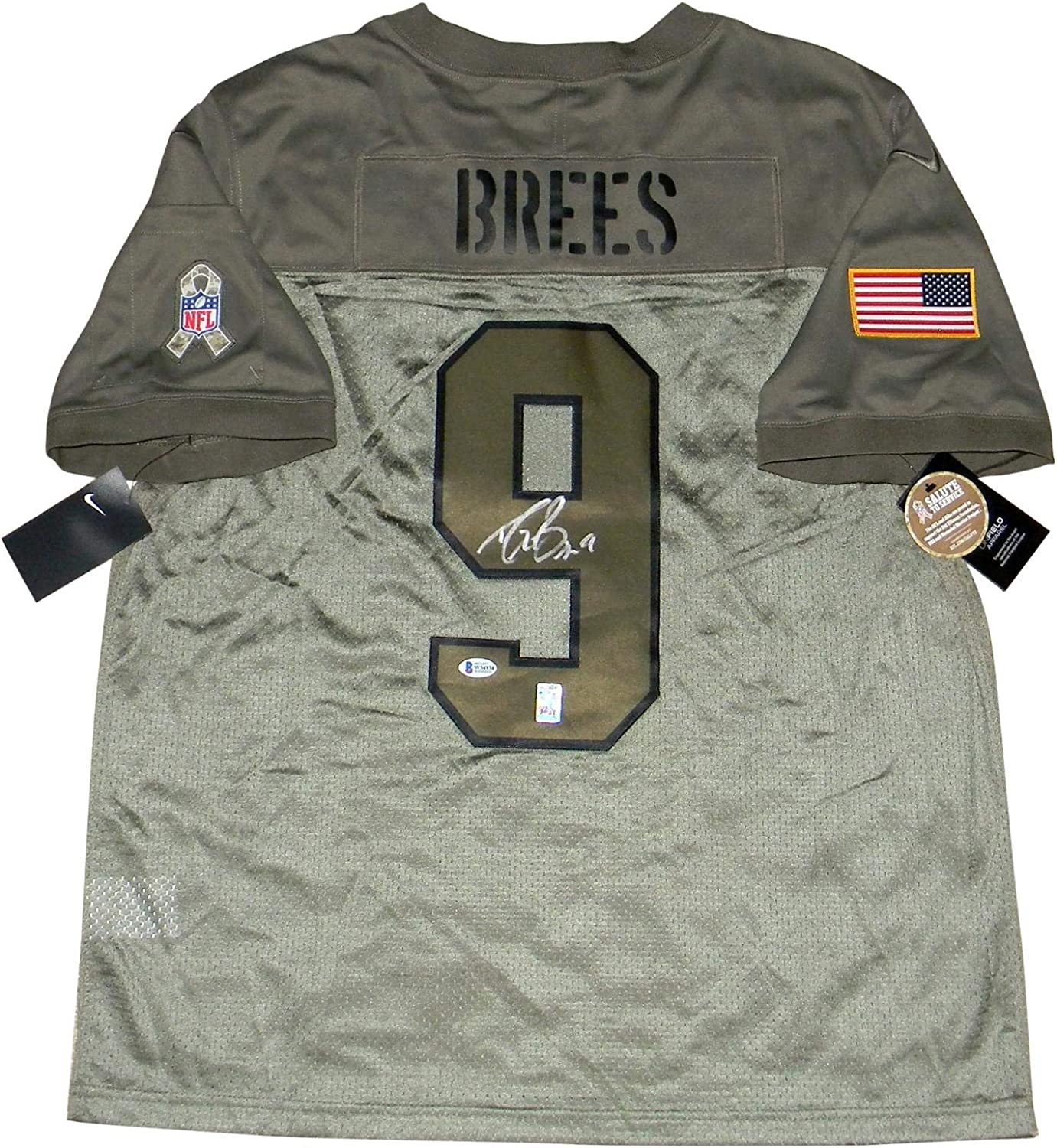 Decepcionado desesperación Contribuir  Drew Brees Signed New Orleans Saints Salute To Service Nike Limited Jersey  Bas - Autographed NFL Jerseys at Amazon's Sports Collectibles Store