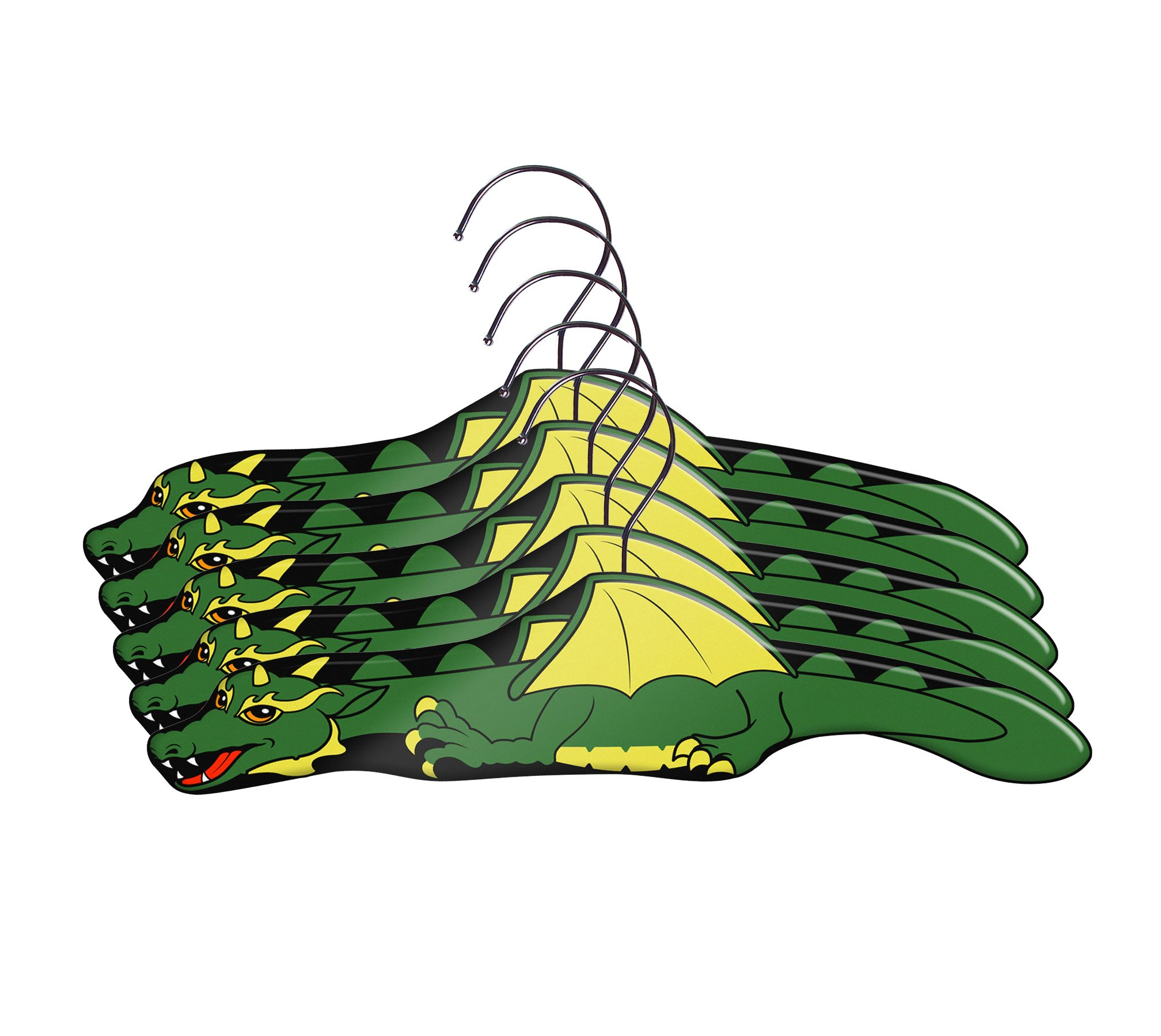 Kidorable Boys' Dragon Knight Hangers, Green/Grey/Black, One Size, Set of 5