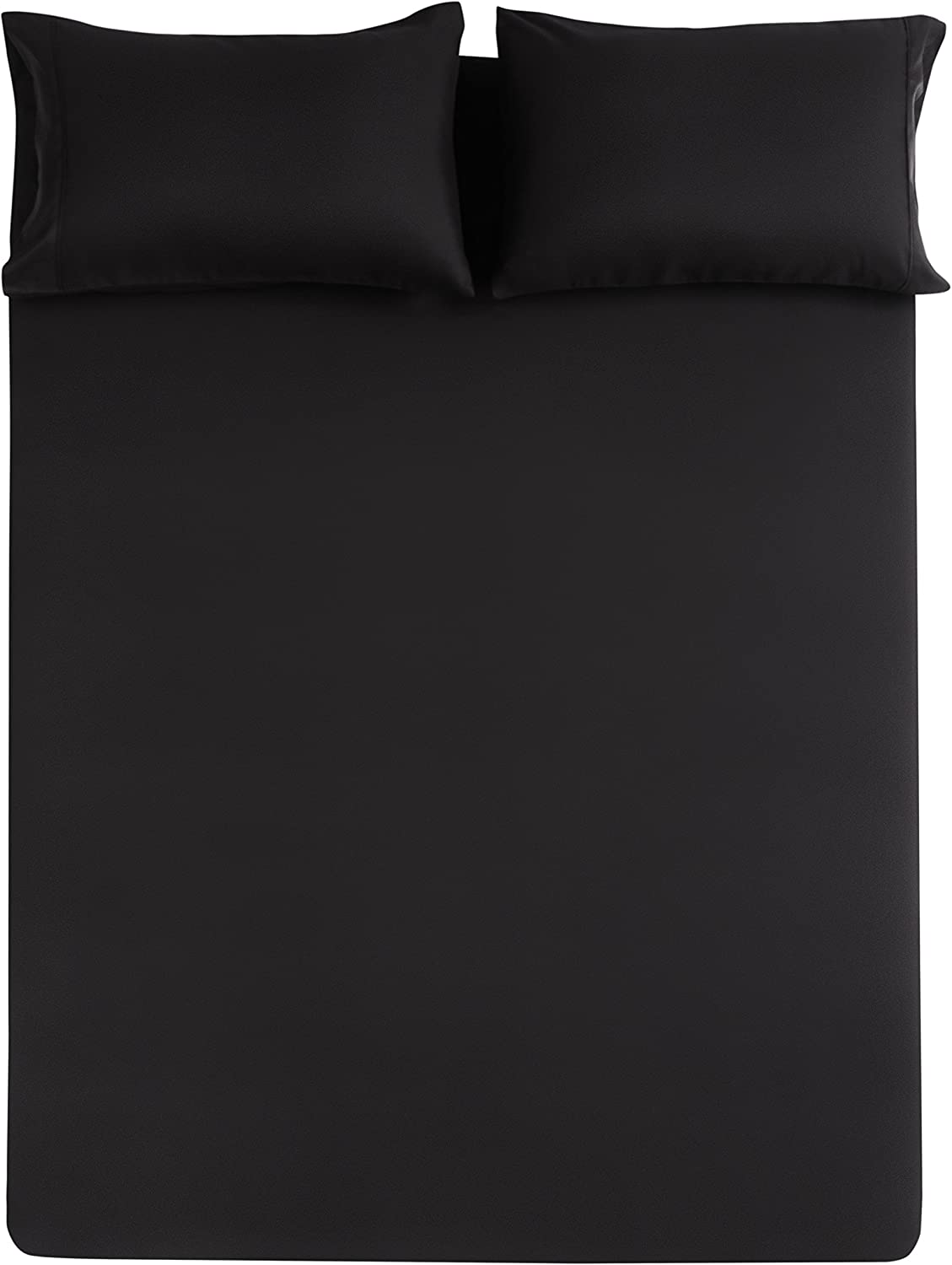 Mohap Bed Sheet Set Twin Black 3 Pieces Brushed Microfiber Luxury Soft Bedding Fade Resistant