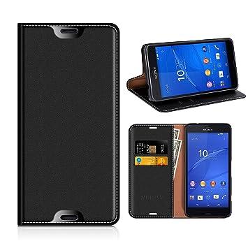 MOBESV Funda Cartera Sony Xperia Z3 Compact, Funda Cuero Movil ...