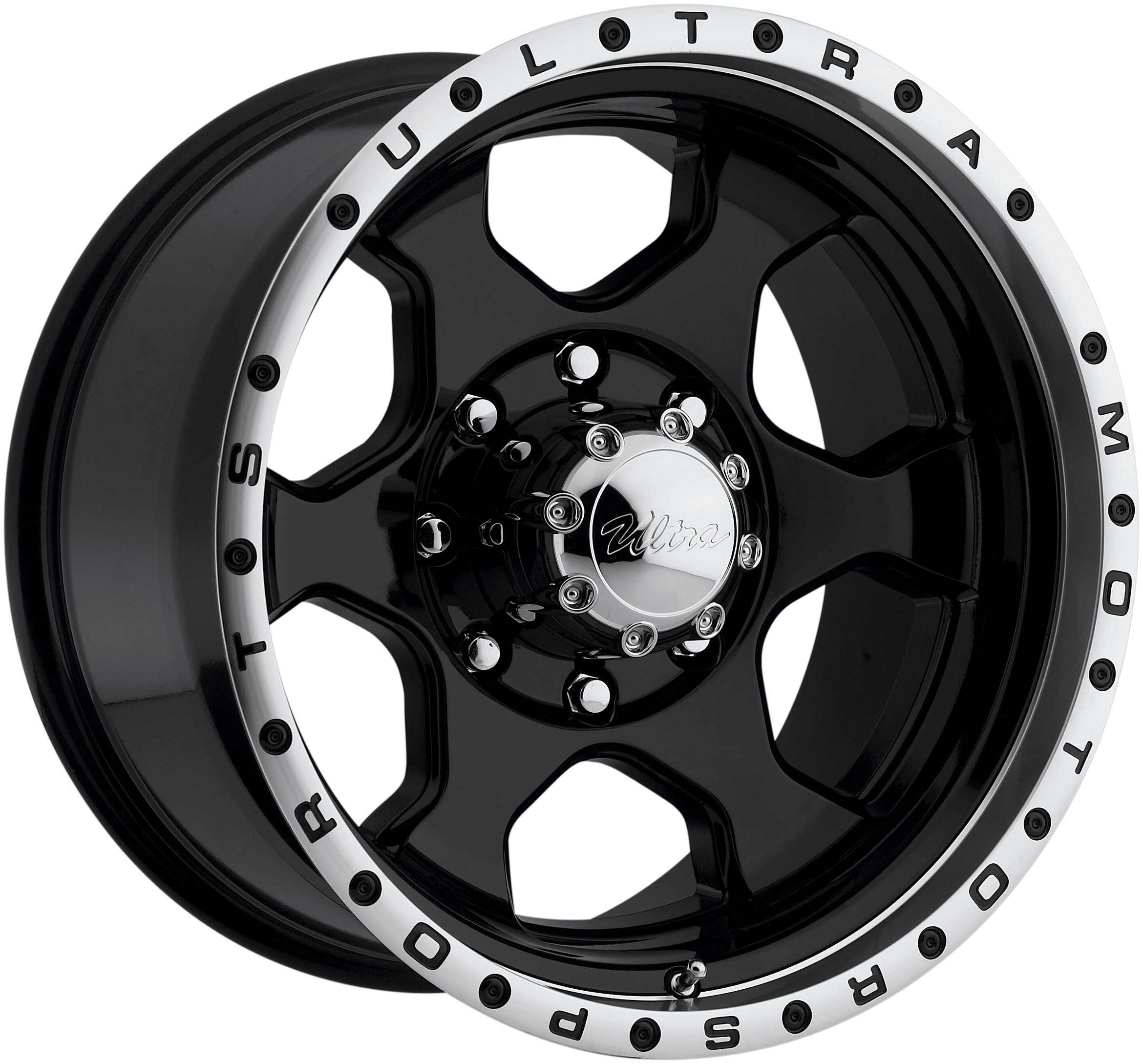 Ultra-Wheels-Ultra-Motorsports-Rogue-RWD-Type-175-Gloss-Black-Center-Wheel-with-Diamond-Cut-Lip-16x86x55