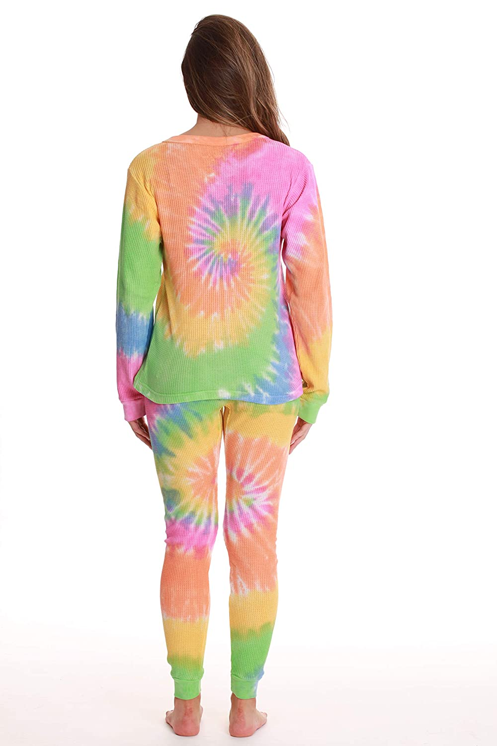 Just Love Womens Tie Dye Two Piece Thermal Underwear Set