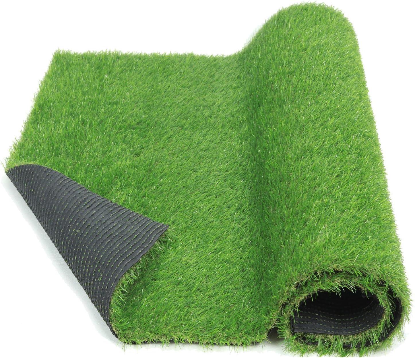ECO MATRIX Fake Grass Pet Turf Artificial Grass Carpet Realistic Indoor Grass Runner Outdoor Landscape Lawn Rug Synthetic Grass Mats for Home and Garden (3.3' x 5')