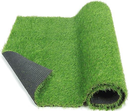 Amazon Com Eco Matrix Synthetic Grass Rug Artificial Grass Carpet Lawn Mats 30mm Pile Height Indoor Outdoor Landscape Fake Grass Turf For Decor 3 3ft X 13 2ft Garden Outdoor