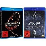 PREDATOR Mega Collection Teil 1 2 3 + Alien vs. Predator 1 & 2 UNCUT 5 Blu-ray Collection