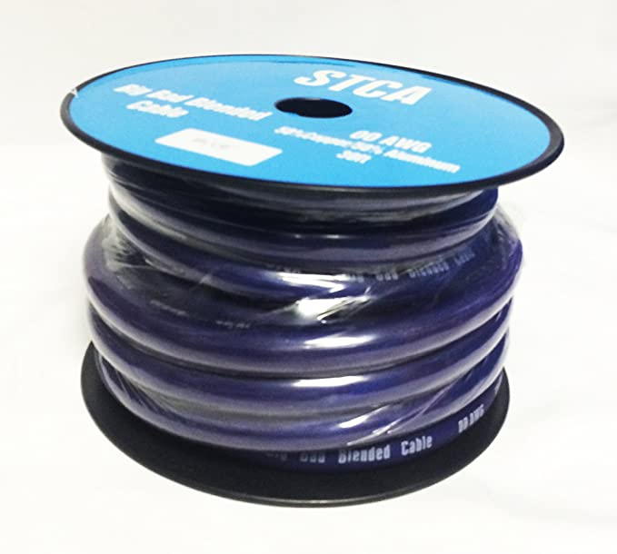 Showtime STCA-00-Blue30 30′ Feet 2//0 00 AWG Gauge Blue Power//Ground Cable//Wire