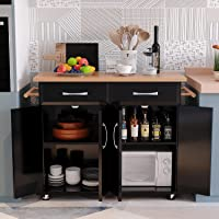 4 EVER WINNER Kitchen Island with Storage Drawers, Rolling Kitchen Island on Wheels, Island for Kitchen with Wooden…