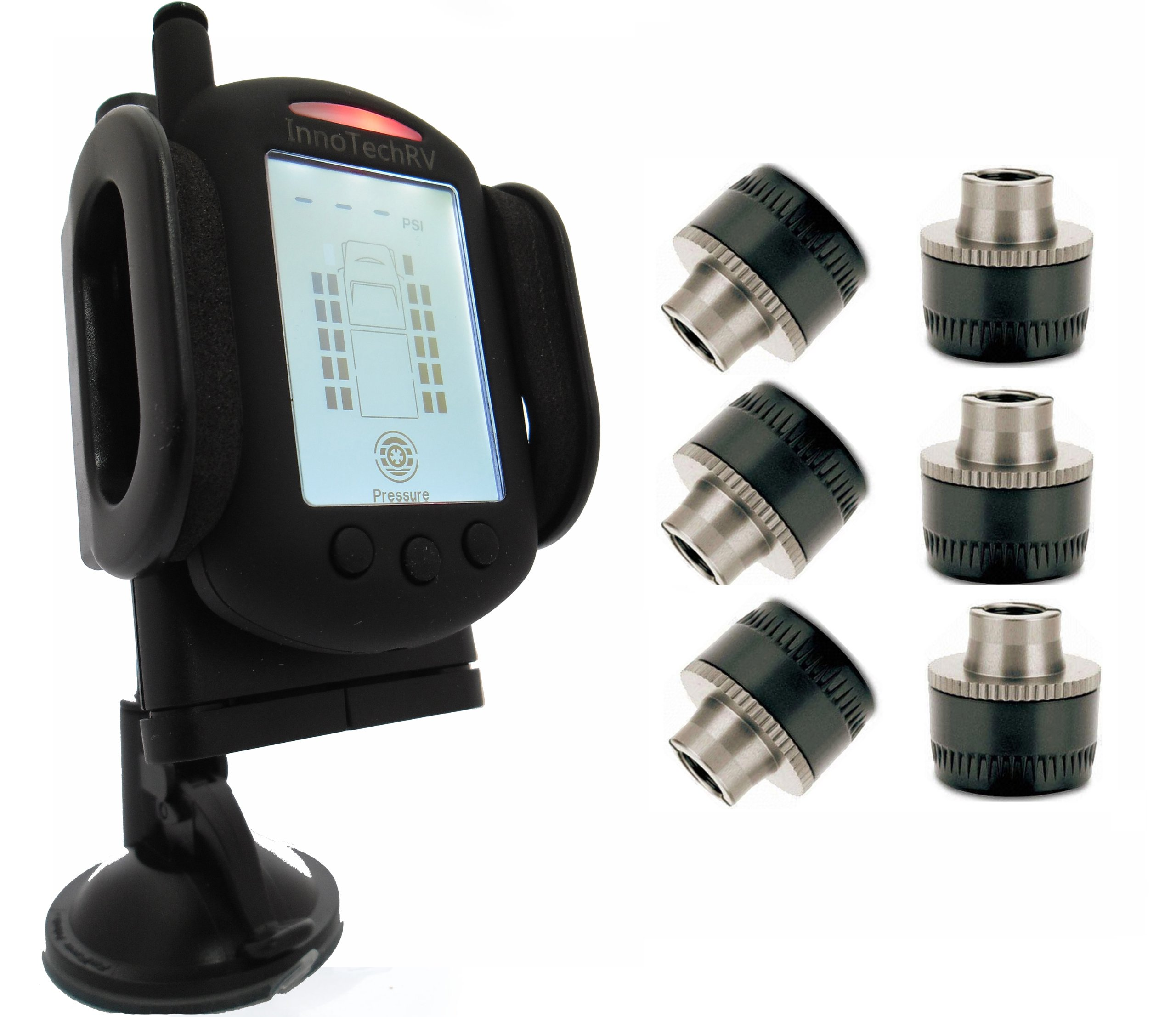 Tire Pressure Monitoring System for RVs and Trucks with 6 Sensors
