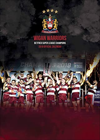 Wigan Warriors Official 2019 A3 Rugby League Wall Calendar Published by  Global Merchandising