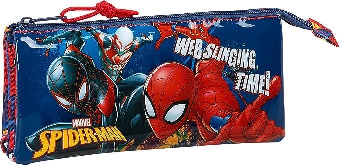 Safta Estuche Escolar Spiderman