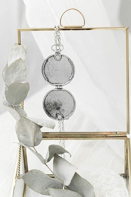 LoveyBrand Oversized Silver Locket