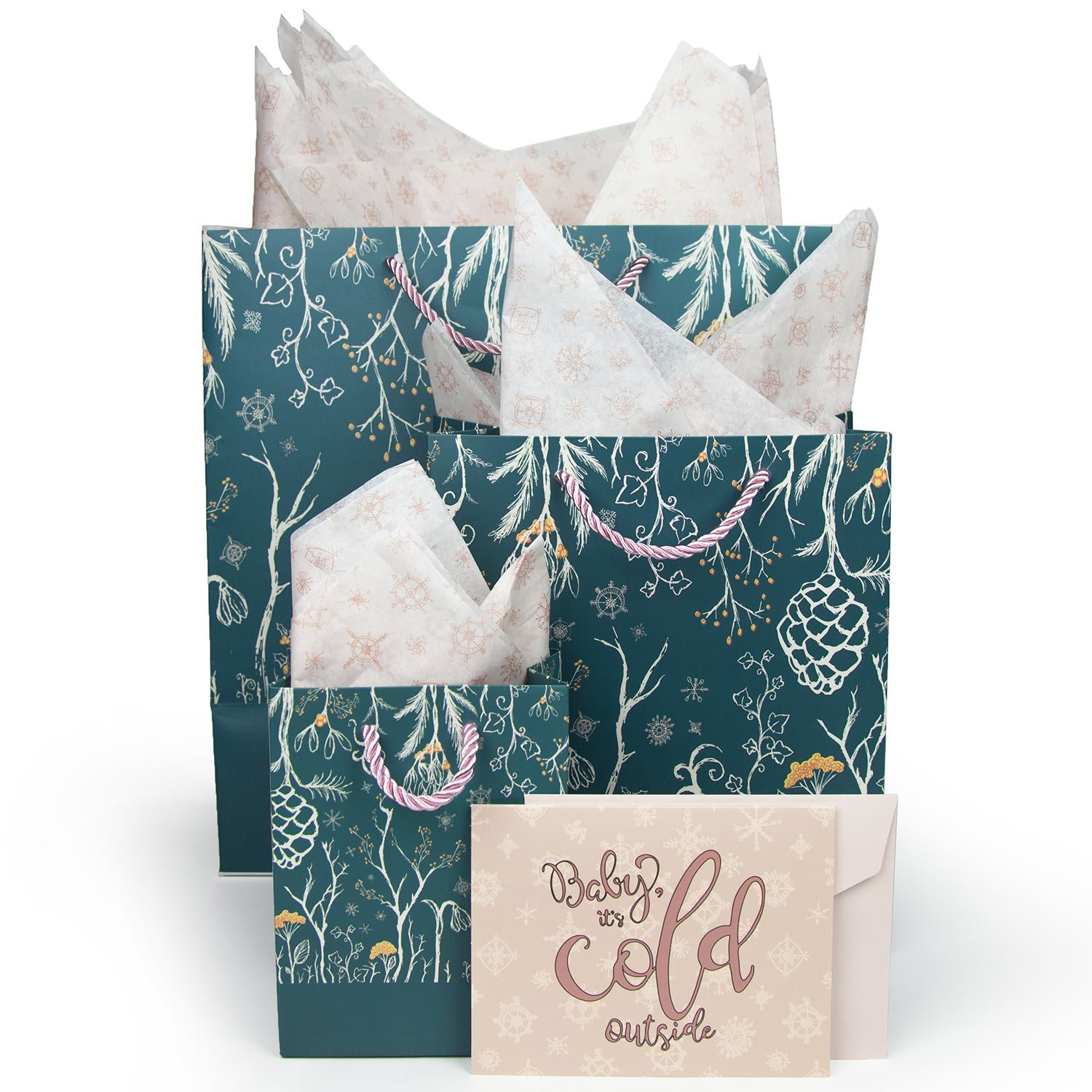 Amazon Gift Bags Set With Bonus Tissue Paper Greeting Cards