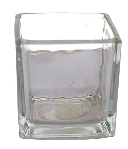 Buy Fourwalls Square Glass Vase 1 Cm X 1 Cm X 5 Cm Transparent Gv