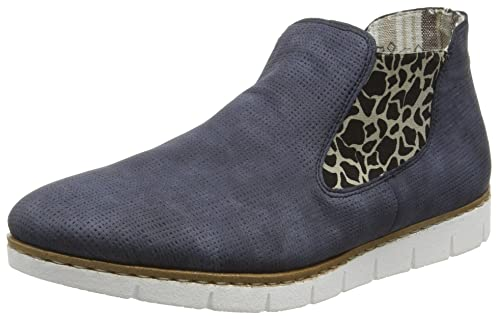 Womens 53790 Ankle Boots, Blau (Blau Kombi 14) Rieker