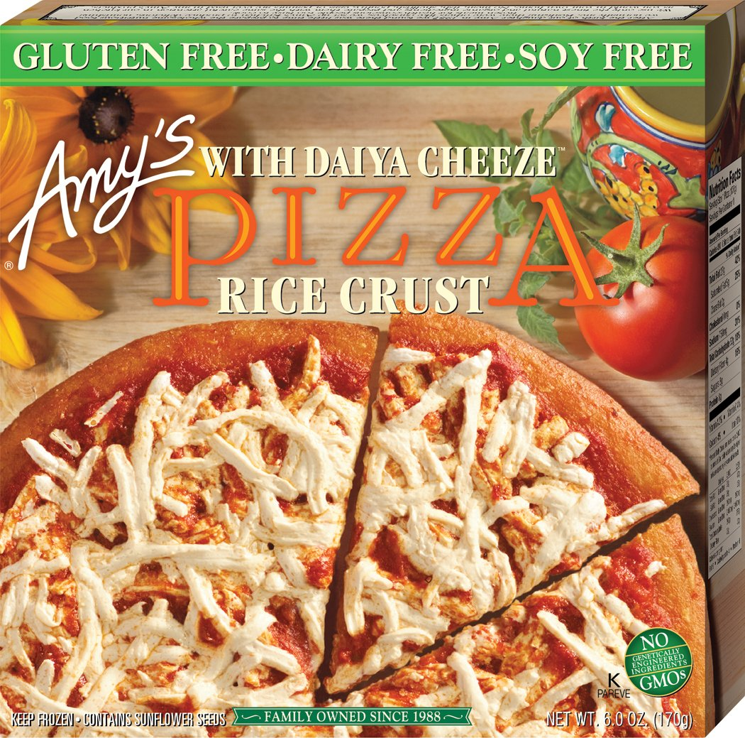 Amy's Non-Dairy Cheese Pizza w/ Rice Crust 6 oz, Pack of 12