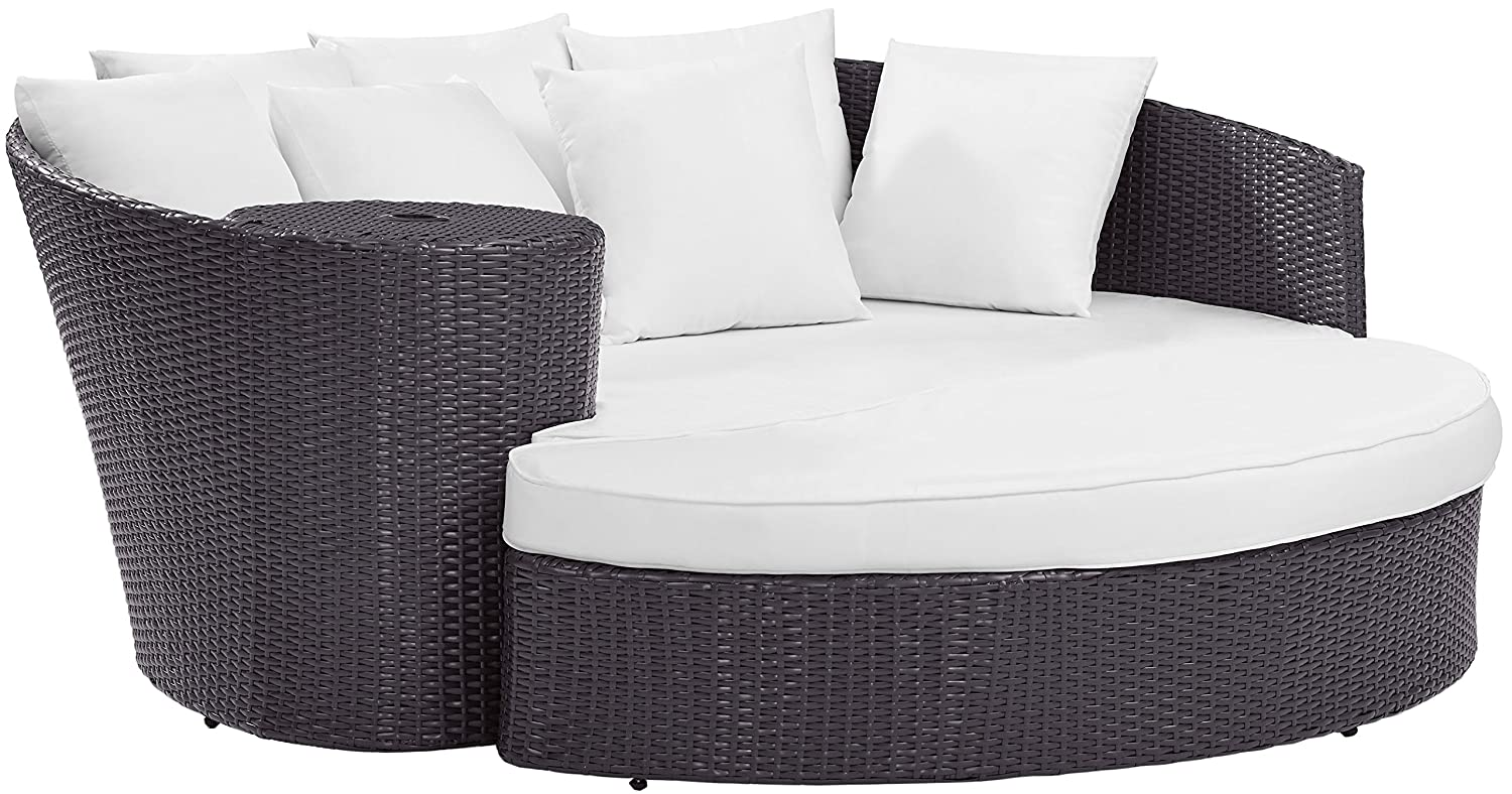Amazon.com : Crosley Furniture CO7145BR-WH Biscayne Outdoor Wicker Daybed  with White Cushions - Brown : Garden & Outdoor - Amazon.com : Crosley Furniture CO7145BR-WH Biscayne Outdoor Wicker