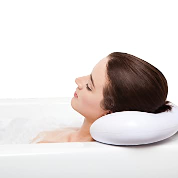 BEST BATH PILLOW Spa pillows with Suction Cups - Extra Firm and Best  Quality - Supports