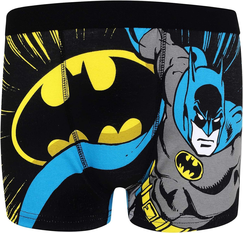 DC Comics Pack de 3 calzoncillos oficiales de estilo b/óxer Batman Superman Para ni/ños