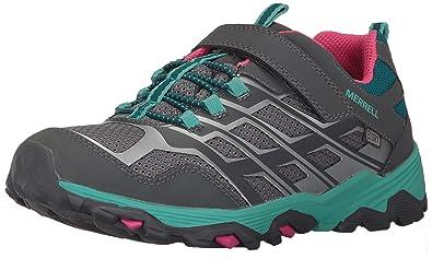 Merrell Kids' Moab FST Low A/C Waterproof Sneaker,Grey/Multi,
