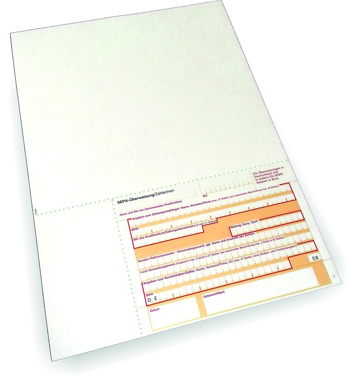Überweisungsträger SEPA - Stand unten rechts, rechts, rechts, 500 Blatt, DIN A4, 90 g qm OCR-Beleglesepapier B00ZOZACZ4 | Zürich Online Shop  47deb3